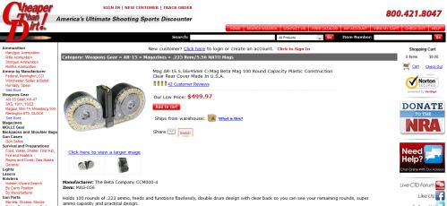 Cheaper Than Dirt $500 Beta Magazine