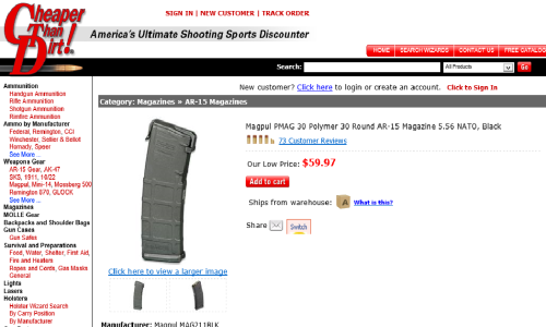 Cheaper Than Dirt PMAG Price Gouge
