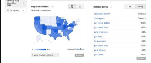 Gun Control Search Data