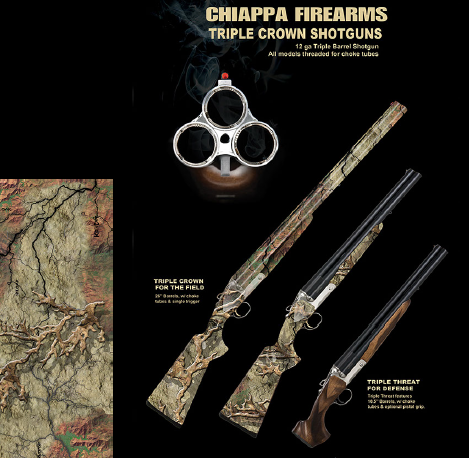 Chiappa Firearms Triple Crown 3 barreled Shotgun
