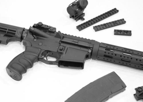 AR15 Black and White 03