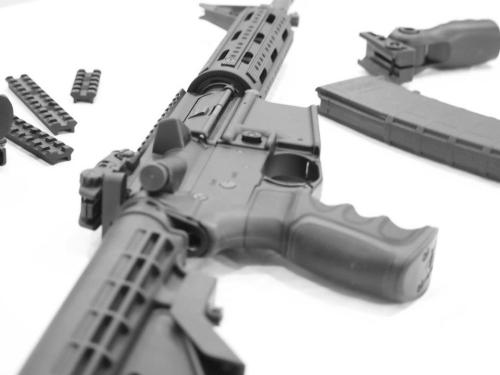AR15 Black and White 04